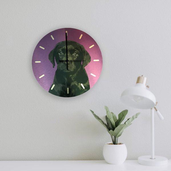 personalised dog wall clock