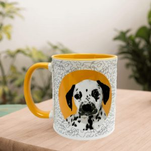 personalised dog mug icon style