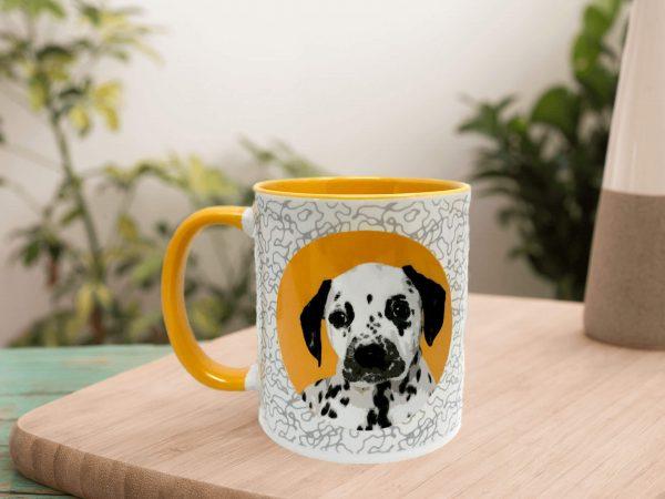 personalised dog mug icon style