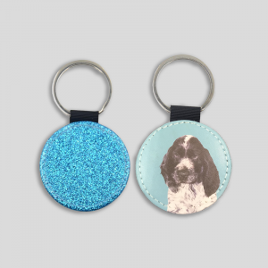 personalised dog keyring