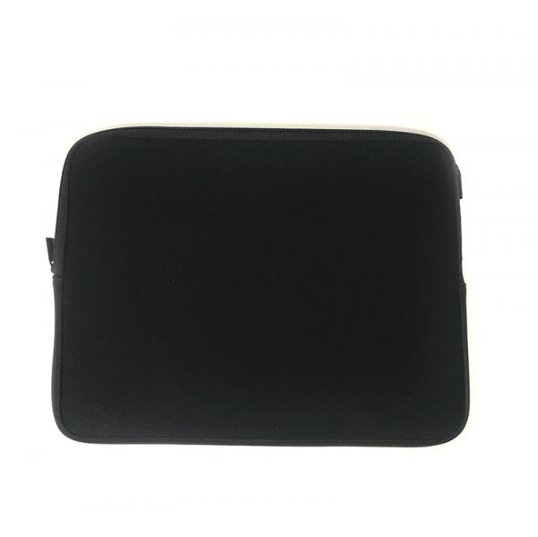 back of laptop sleeve in black