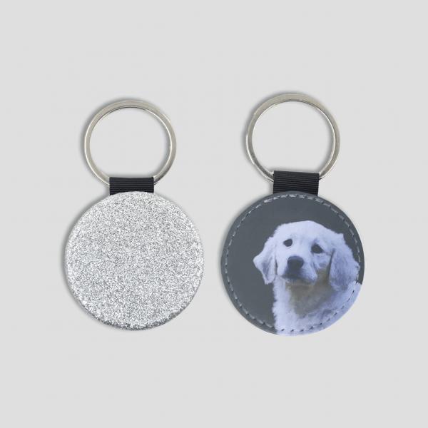 personalised dog portrait keyring