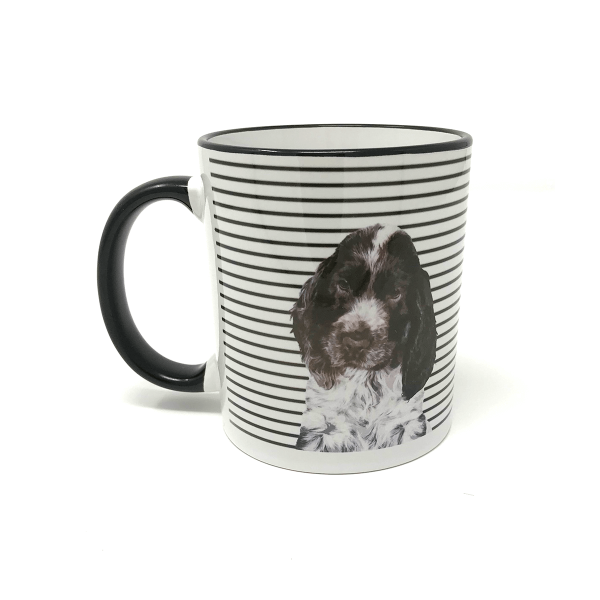 personalised mug with dog portrait of cocker spaniel