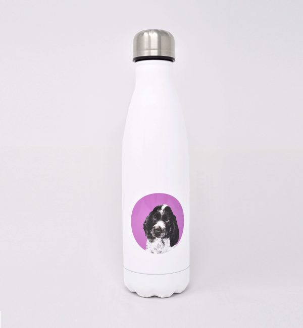 personalised drinks bottle with dog icon