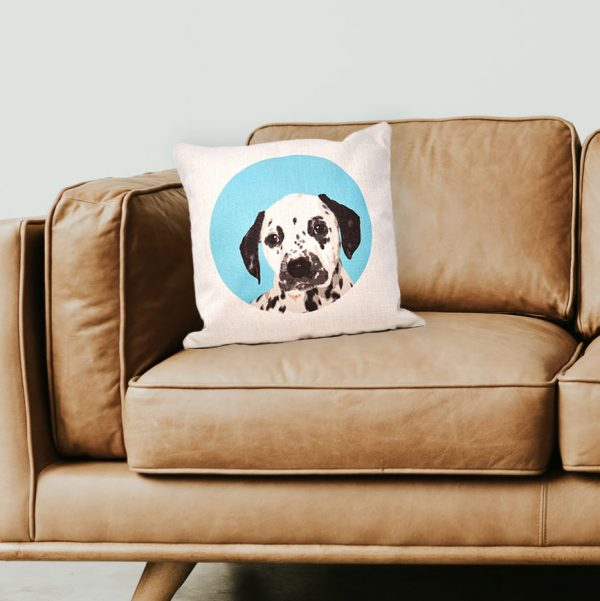 personalised cushion with dog icon