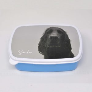 Food Storage box with personalised dog portrait