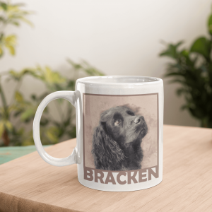 personalised dog mug with name