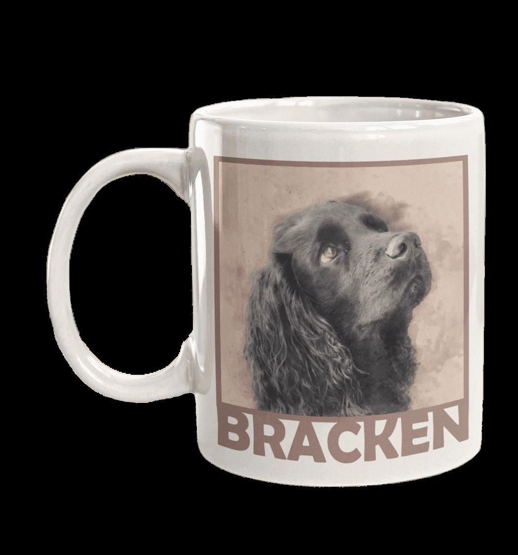 personalised dog mug dusky pink