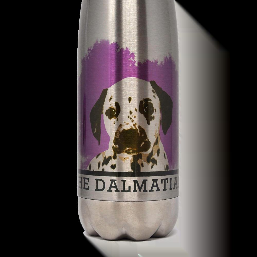 personalised bottle with dog portrait