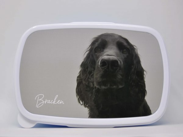 personalised lunchbox with dog portrait