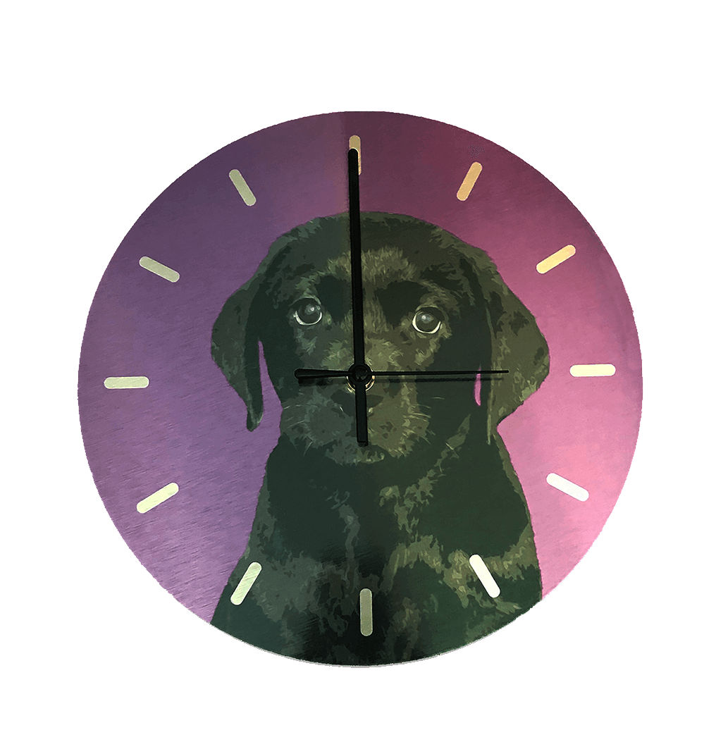 labrador puppy wall clock