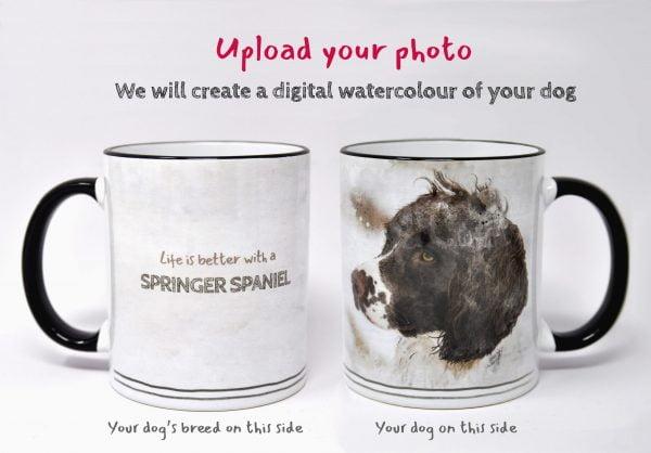personalised dog mug watercolour