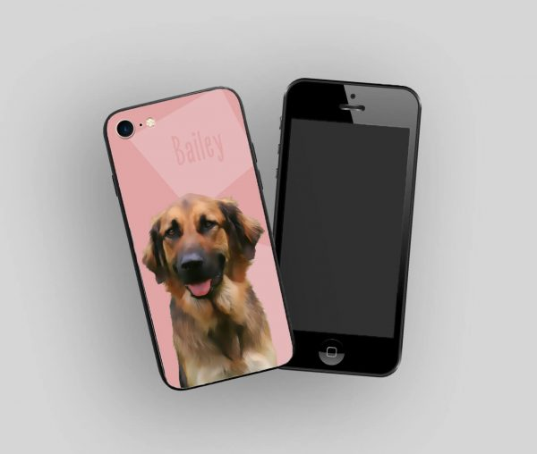 personalised phone case with dog portrait
